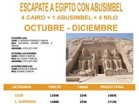 ESCAPATE A EGIPTO CON ABU SIMBEL