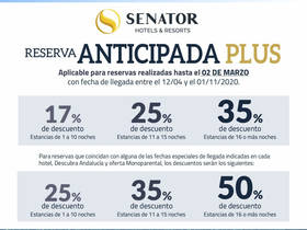 VENTA ANTICIPADA PLUS PLAYA SENATOR